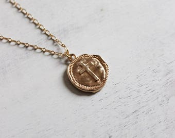Wax Seal Cross Necklace
