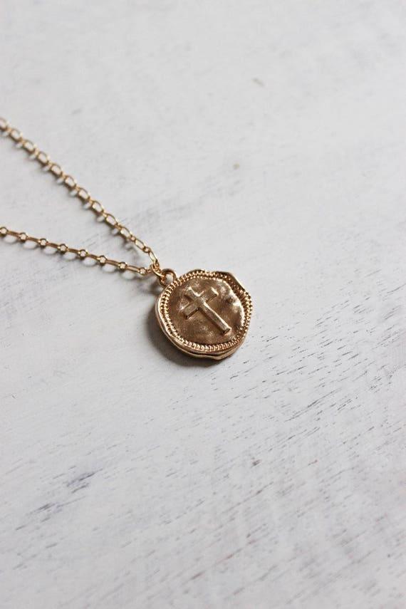 Wax Seal Cross Necklace