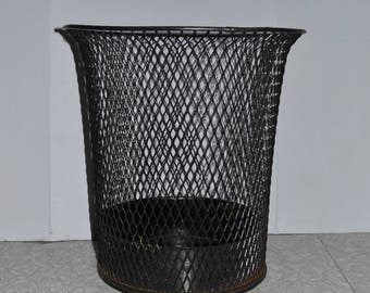 Nemco Wire Industrial Trash Can ~ Mesh Trash Can ~ Industrial Decor ~ Epsteam