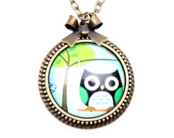 Necklace owl 2525C
