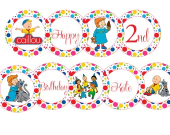Girls or Boys Birthday Caillou Personalized Birthday Banner -Printable File