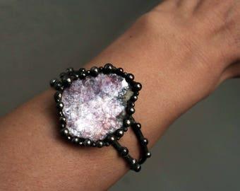 Large Lepidolite Cuff Bracelet