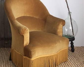 Velvet Crapaud Chair