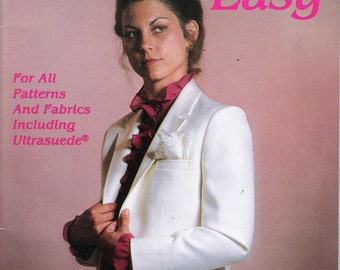 Vintage 1982 Blazers Made Easy by Janet Stahl For All Patterns and Fabrics Including Ultrasuede Paperback Book