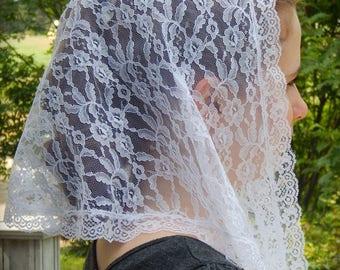 White lace Chapel Veil, PO# ZW02