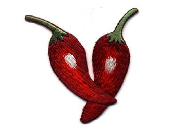 Chili Pepper - Peppers - Southwest - Mexican Food - Embroidered Iron On Patch
