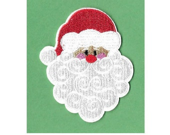 Santa Claus - Christmas - Kris Kringle - Embroidered Iron On Applique Patch