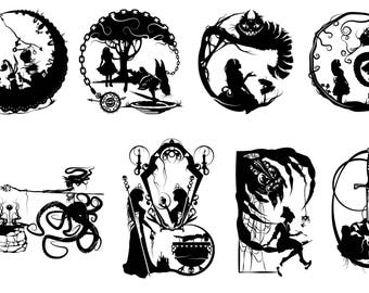 Prints of Will Pigg's Storybook / Fables Silhouette Paper cuts on 100lb Stipple Paper see listing for designs available