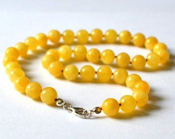 Amber necklace, Baltic amber necklace, amber beads, polished amber, Butterscotch Baltic amber