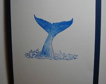 Whale's Fluke (hand-stamped) 8-Card Box