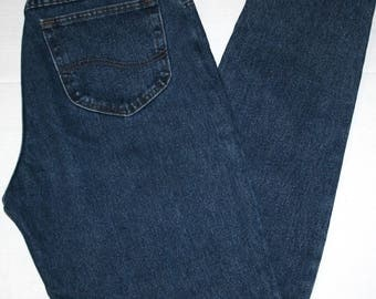VINTAGE! Women's Lee M.R. High Waisted Denim Blue Jeans Size 15 Long