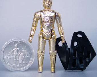 Vintage Star Wars (Last 17) C-3PO 100% Complete with Rare C-3PO Coin C8