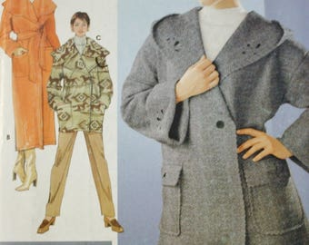 Simplicity 0678, Wrap Coat Pattern, Cut Out Design, Uncut, Factory Folded Sewing Pattern