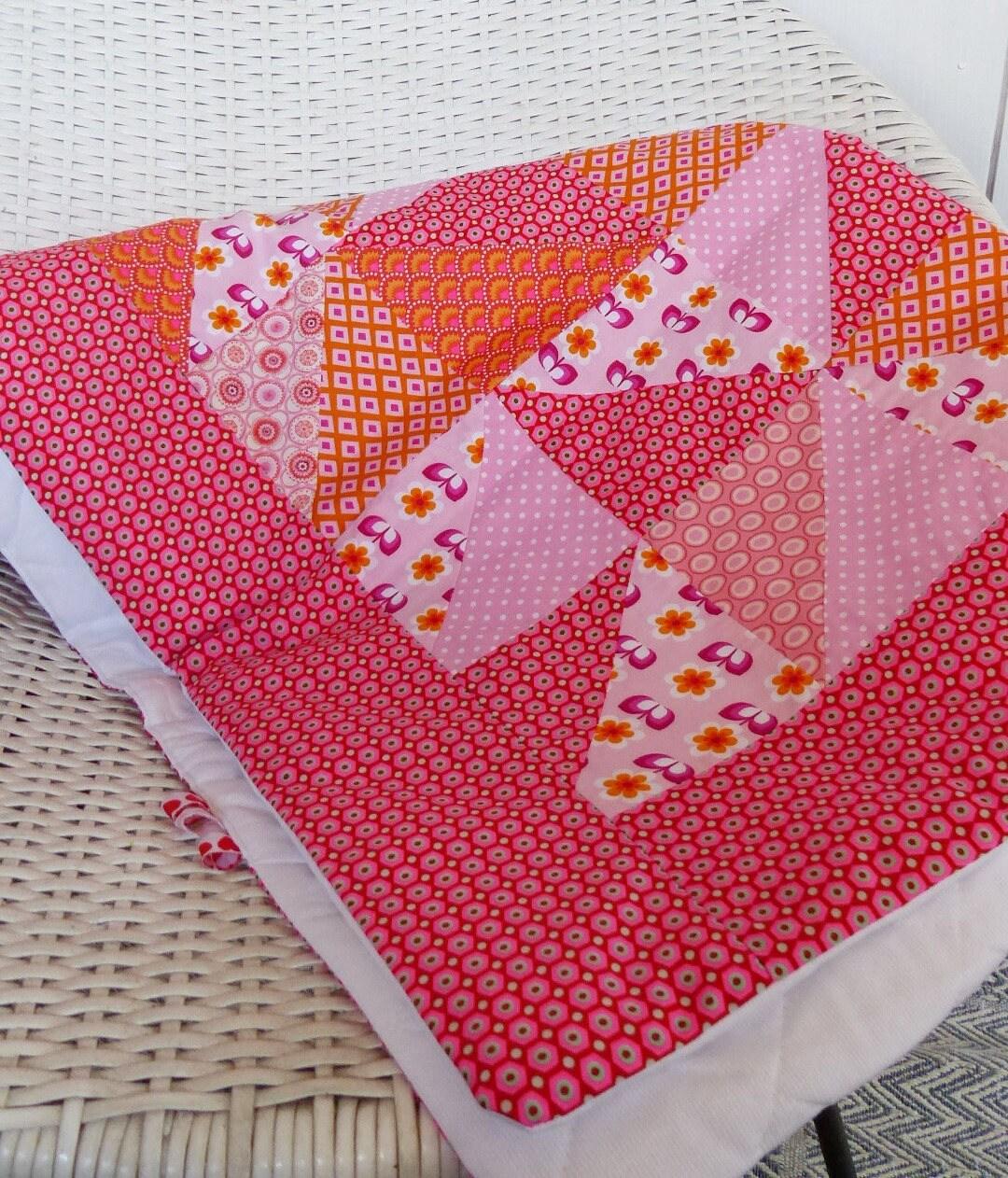 plaid boh me couverture couvre lit berceau patchwork tissus. Black Bedroom Furniture Sets. Home Design Ideas