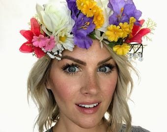 The Kai - Multi Colored Festival Floral Crown Head Wreath
