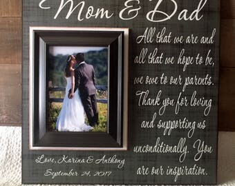 Mother and Father Wedding Thank You | Wedding Gifts for Parents of the Bride and Groom | Wedding Gifts for Parents Ideas | Picture Frames