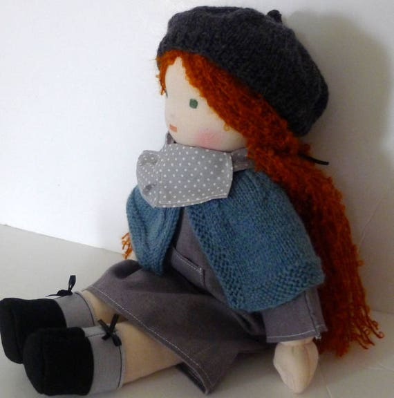 Waldorf doll - organic cotton - 40 cm - hand made - made in France
