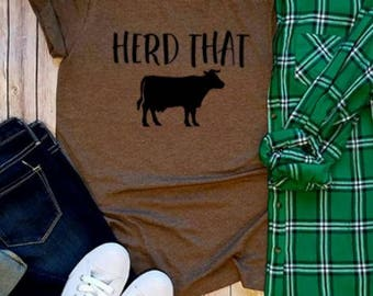 Herd That Country, Country Tees, Graphic Tees, Country Girl Funny T Shirts