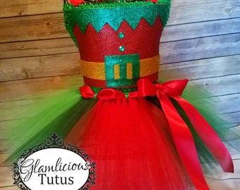 Elf Tutu dress| Christmas Elf tutu dress| Elf Tutu | Christmas tutu dress | Newborn-5T listing!