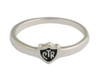 Small Mini CTR Choose The Right Ring Sterling Silver