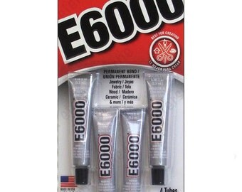 E6000 clear 4 min tubes Jewelry, Fabric, Wood, Ceramic and Bead Glue by Eclectic Adhesive