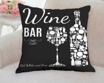 Wine Bar Pillow
