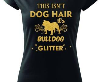English Bulldog Glitter T-shirt