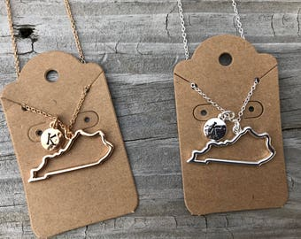 Kentucky Necklace / Kentucky Jewelry / State Necklace