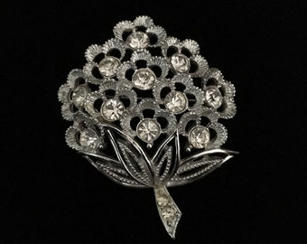 Vintage Sarah Coventry Wedding Bouquet Brooch Full of Crystal Beauty (Tier 1)