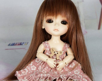 bjd doll long straight wig for lati yellow pukifee (5 colors)