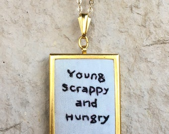 Broadway Musical Hamilton Inspired Hand Embroidered Necklace