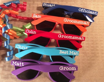 Groom, Groomsman, Best Man, Ushers. For anyone in your wedding party. Personalized and FUN!!