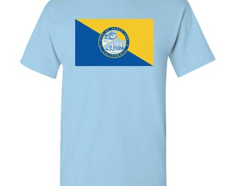Santa Ana City Flag T Shirt - Sky Blue