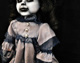 "Acantha 16"" OOAK Porcelain Horror Doll"