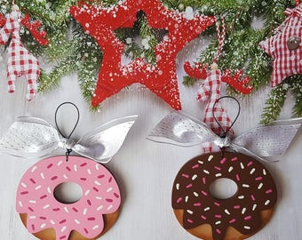 Donut Christmas Ornament, Personalized Christmas Ornament