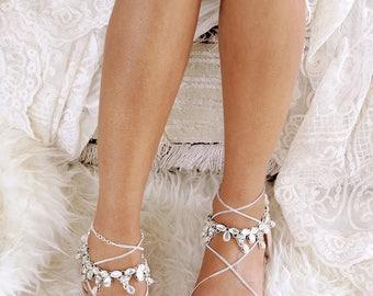 Flat wedding sandal etsy silver flat sandals gladiator sandal nude leather sandal silver shoesde wedding junglespirit Gallery