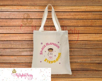Astronaut Totebag, Astronaut Cotton Canvas Tote Bag, Personalized Tote Bag, Astronaut Girl, ABG-102