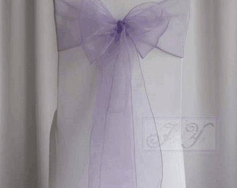 25x Lilac Chair Sashes Bow Cover for Wedding Engagement Anniversary Birthday Event Party Reception Ceremony Bouquet Decoration