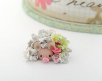 Wee Little Grey Mouse Miniature Figurine
