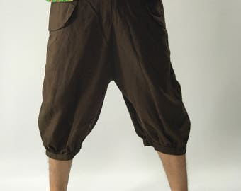 HC0279 capri pants Men's Pants, Thai Pants decorate by hilltribe fabric