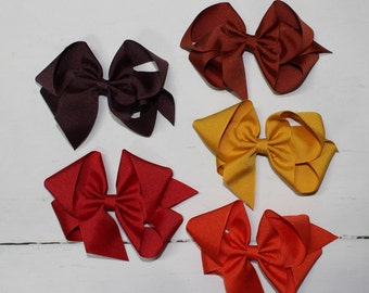 Classic Grosgrain Bow, Hair Bow, Hair Clip, Big Bow, Southern Belle Bow, Ribbon Bow