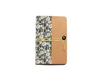 Coverage Format A6 - fancy pattern fabric notebook
