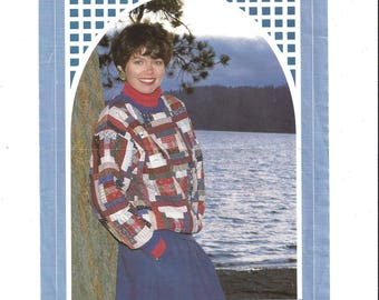 1991 Pattern for Log Cabin Pullover, Back Porch Press by Gail Abeloe, All Sizes, FACTORY FOLDED, UNCUT, Vintage Pattern, Home Sew Pattern