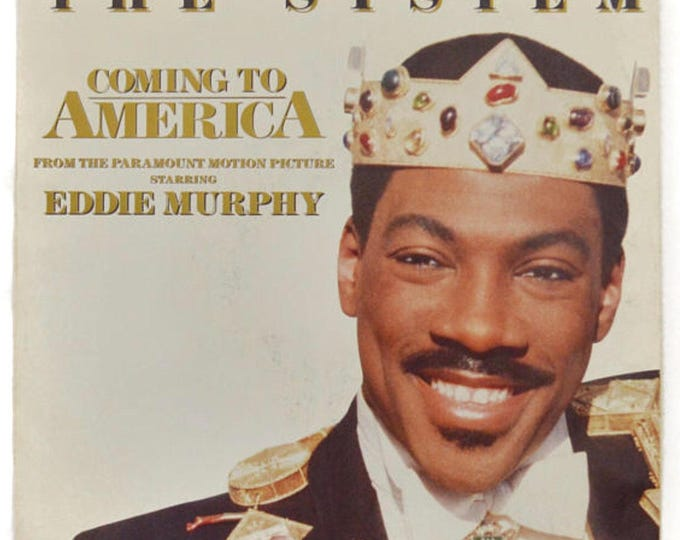 Vintage 80s The System Coming to America Soundtrack R&B 45 RPM Single Picture Sleeve Record Vinyl