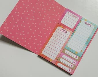 Sticky Notes Book - Colorful Sticky Notes in Folder - Booklet - Don't Forget - Notes