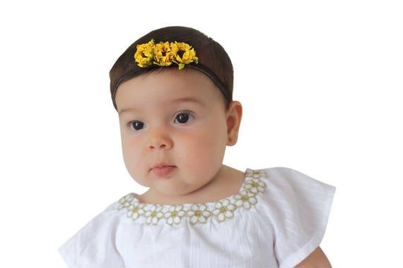 Sunflower Headpiece, Baby Headband, Sunflower Headband, Newborn Headband, Headband for Girls, Toddler Headband, Newborn Girl Gifts