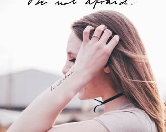 Temporary Tattoo | Be Not Afraid! | Written in St. John Paul II's Actual Handwriting