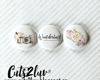 "3 Badges 1"" Wanderlust"