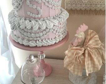 Fluffy Shabby Chic Fake Cake
