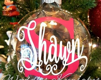 Personalized Camouflage Christmas Ornament